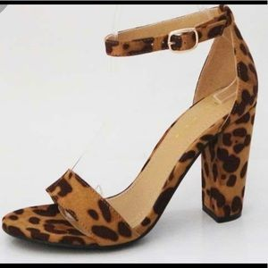 Leopard Block Heel